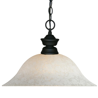 100701MB-WM16-WM16 Matt Black Pendant Light