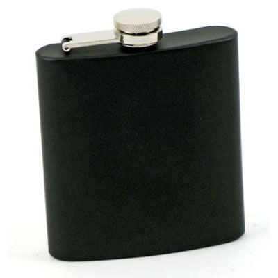 130139-Bar Flask - 6oz Black Matte Stainless Steel