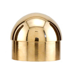 8503 - Foot Rail Domed End Cap - 2'' Brass