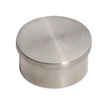 8509 - Foot Rail Flat End Cap - 2'' Stainless Steel