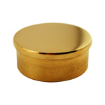 8507 - Foot Rail Flat End Cap - 2'' Brass