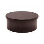 8575 - Foot Rail Flat End Cap - 2'' Powder Coated