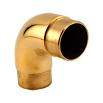 8565 - Foot Rail Elbow Fitting Curved - 2'' Brass