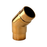 8568 - Foot Rail 135 degree Angle Fitting - 2'' Brass