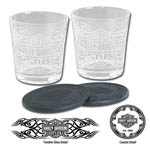 7378 - Harley-Davidson Tribal Bar and Shield Tumbler Set