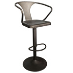 12348 - Worldwide Astra Adjustable Height Bar Stool (Gunmetal)