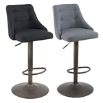 13629 - Worldwide Adyson Gas Lift Stool - Black or Grey