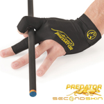 Predator Second Skin Billiard Glove - Black/Yellow