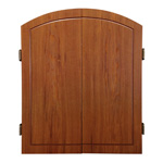 9718 - Traditional Wood Veneer Dart Cabinet - Walnut