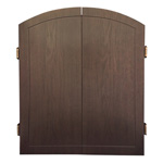 9719 - Traditional Wood Veneer Dart Cabinet - Espresso