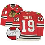 7397 - Jonathan Toews Signed Chicago Blackhawks Red Jersey