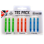 12029 - Harrows Tri-Pack Supergrip Medium Dart Shafts - Coloured