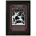 7403 - Paul Henderson Signed Etched Mat Framed Team Canada 1972 Summit Series