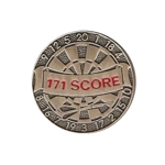 4771 - Pewter 171 Score Dart Pin
