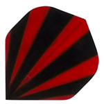 12813 - Polyester Flights - Red and Black Stripes