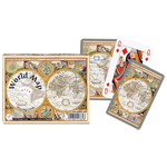 10447 - Piatnik World Map Double Deck Playing Cards