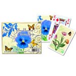 7389 - Double Deck Bridge Blue Blossom Cards
