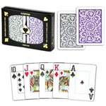 11877 - Copag Purple and Gray Poker Size Jumbo Index Cards
