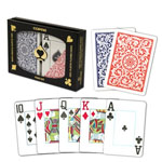 11881 - Copag Poker Size Jumbo Index Double Deck Red and Blue