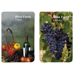 12250 - Playing Cards - Wine Facts