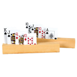 15994 - Wooden 4 Slot Card Holders (set of 2)