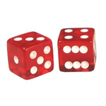 1855 - Red Transparent 19 mm Dice