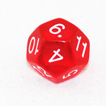 1881 - 12 Sided Transparent Dice