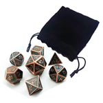 13562 - Metal Polyhedral Dice Set - Antique Copper