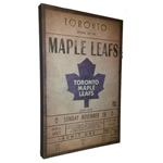 Toronto Maple Leafs Classic Wall Ticket