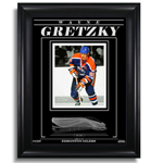 Wayne Gretzky Edmonton Oilers Engraved Framed 8X10 Photo Action