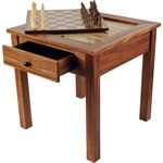 11613 - Wood 3-In-1 Chess Backgammon Table