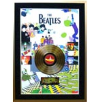 7415 - Beatles Unsigned Gold Record Frame - Yellow Submarine
