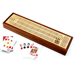 8667 - Wooden Cribbage Board with Storage