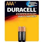 2447 - AAA Duracell Batteries(2 pack)