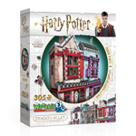 13286 - Wrebbit Harry Potter Quality Quidditch Supplies and Slug and Jiggers Shop - 305 Pc 3D Puzzle