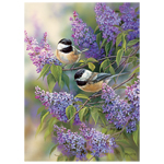 11460 - CH Chickadees and Lilacs - 1000 Piece Puzzle