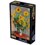 14879 - D-Toys Bouquet of Sunflowers by Monet - 1000 PC Puzzle (DT-1428)