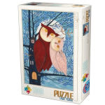 14884 - D-Toys Owl Couple by Andrea - 1000 PC Puzzle (DT-1433)