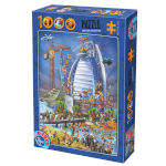 14895 - D-Toys Cartoon Collection: Building the Burl Al Arab - 1000 PC Puzzle (DT-468)
