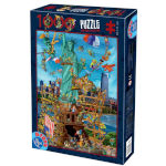 14896 - D-Toys Cartoon Collection: Statue Of Liberty - 1000 PC Puzzle (DT-1404)