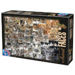 14888 - D-Toys Cat Faces 1000 PC Puzzle