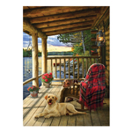14956 - Cobble Hill Cabin Porch 1000 Pc Puzzle