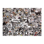 14976 - Cobble Hill Black and White: Animals 1000 Pc Puzzle