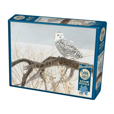 14848 - Cobble Hill Bateman Fallen Willow Snowy Owl 500pc Puzzle