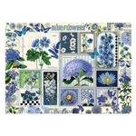 14788 - Cobble Hill Behr Blue Flowers 1000 Pc Puzzle