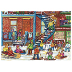 Trefl Canadian Artist Collection: Winter Fun by C. Spandeau 1000 Pc Puzzle (670176)
