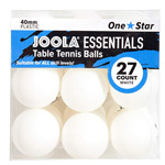 14175 - JOOLA Essentials 40mm White Table Tennis Balls, 27CT