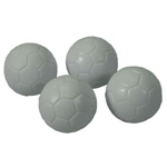 White Engraved Foosball Balls (4 pack)