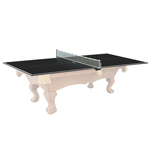 6909 - Kettler Black Table Tennis Conversion Top for 4' x 8' Pool Tables