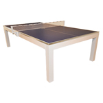 La Condo Table Tennis Table - iTech White Gloss Finish